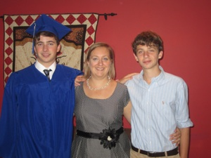 Laurie and her sons.