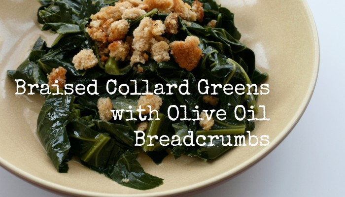Braised Collard Greens with Olive Oil Breadcrumbs :: Friday Foodie