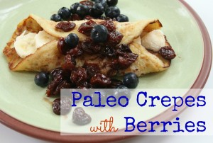 Paleo Crepes with berries